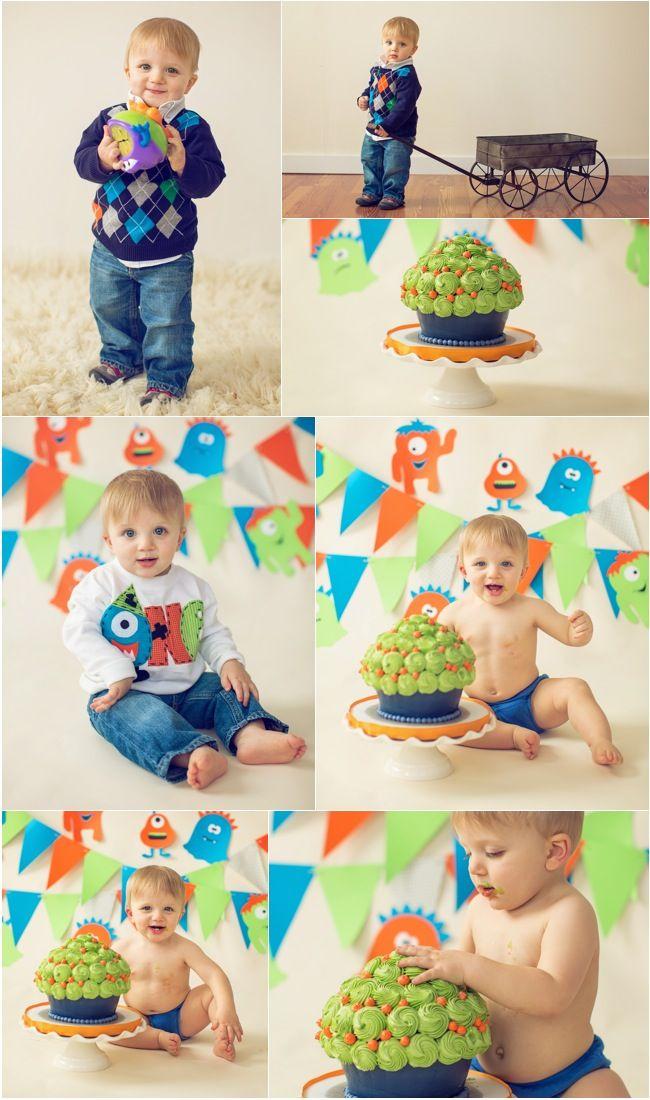 monster themed birthday party | Happy 1st Birthday Baby L – Boston Cake Smash Photographer » SUSAN ...