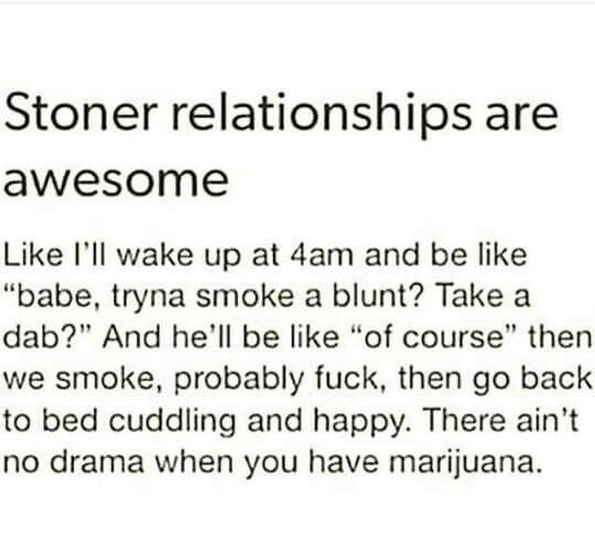 the problem with dating a stoner
