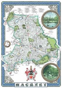 London Borough of Hackney Illustrated Map