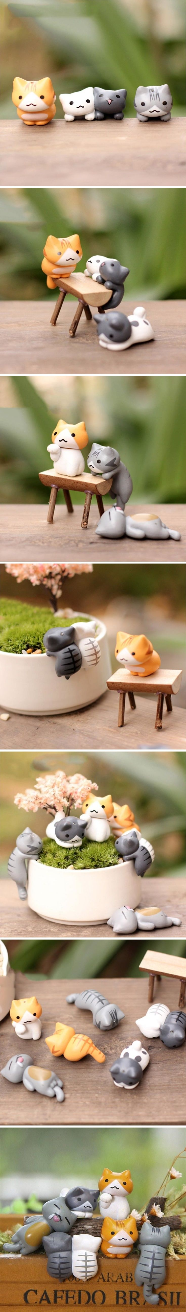 """That's the great secret of creativity. You treat ideas like cats: you make them follow you.""  Set new accents with these Mini Decorative Lazy Cats and level up the cuteness factor by using them to decor all kinds of tables, little small pots or bowls."