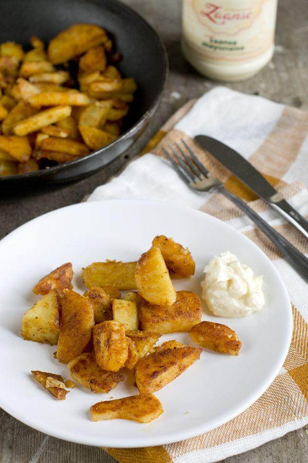 Recept voor de lekkerste aardappeltjes uit de koekenpan | via BrendaKookt.nl