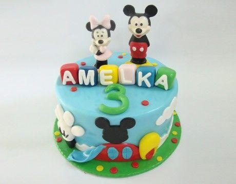 Torty Kraków Tort urodzinowy - Cukiernia Gateau Tort z Myszką Miki i Minnie #cake, #tort, #miki, #minnie, #urodziny, www.cukierniagateau.pl