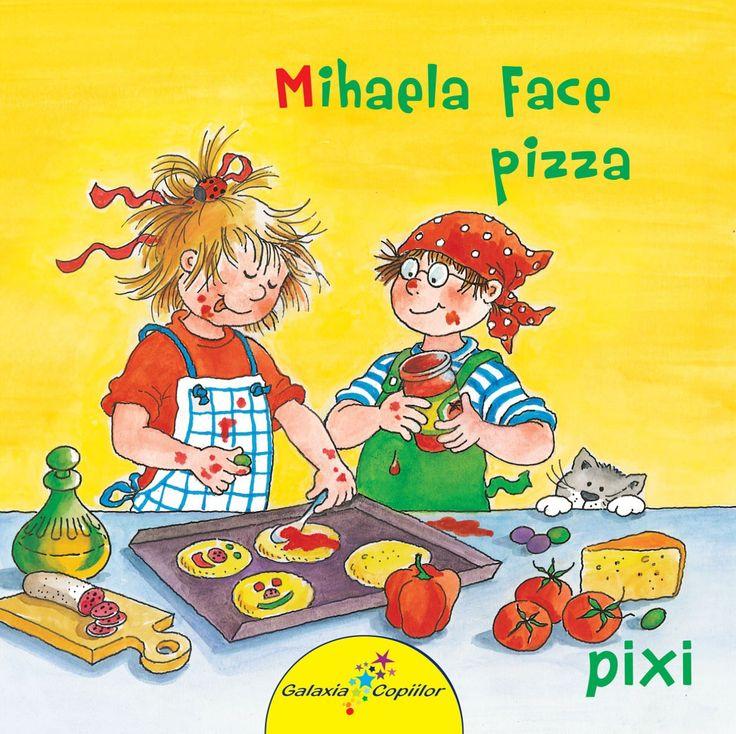 Liane Schneider - Mihaela face pizza -Liane Schneider; Iulstratii:Eva Wenzel-Burger; Varsta 2-5 ani; Andrei si Mihaela arata ca sunt harnici si responsabili pregatind o delicioasa pizza intr-un stil propriu.