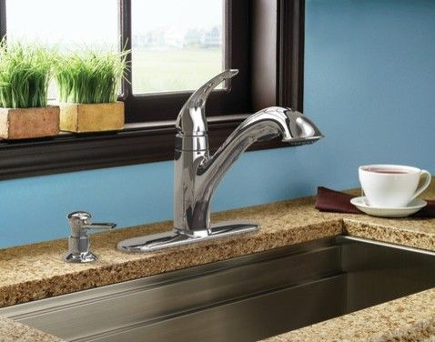 Moen Caprillo Chrome One Handle Low Arc Kitchen Faucet