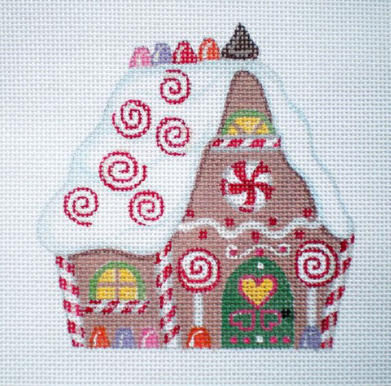 Amy Bradley Designs Gingerbread Houses: 968 Best Needlepoint Ornaments Christmas Images On