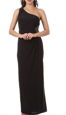 Chic Jenna One Shoulder Ruched Maternity Dress Trendy Tummy