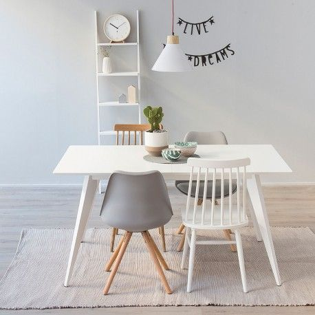 Kento mesa extensible blanca #deco #diningroom