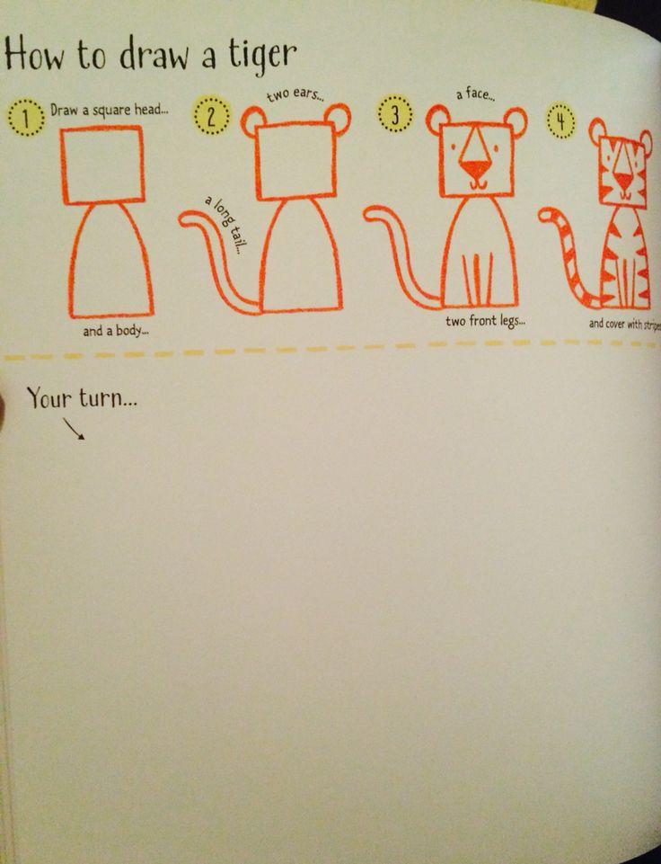 How to draw a tiger #raisasbooks