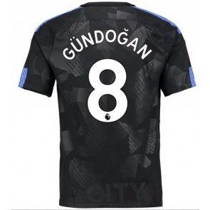 Manchester City Ilkay Gundogan 8 Alternativní Dres 17-18 Krátký Rukáv