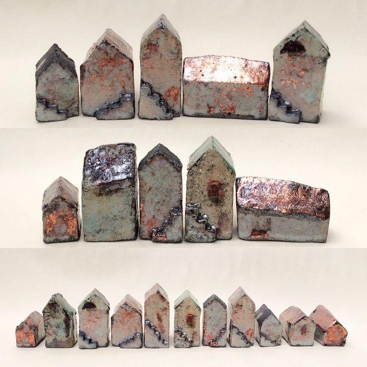 Little #raku houses #asiaceramics #ceramics