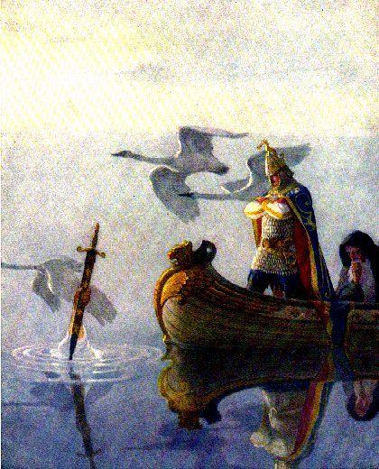 The Boy's King Arthur Illustration By Andrew Wyeth: King Arthur ...