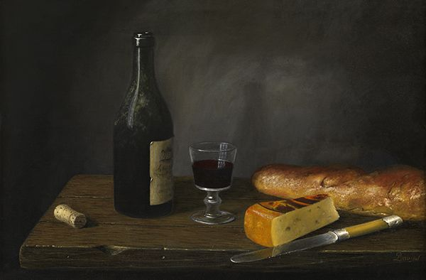 'House Wine' Oil on Canvas: 40 x 60 cm Signed by Brian Davies (1942 - 2014)