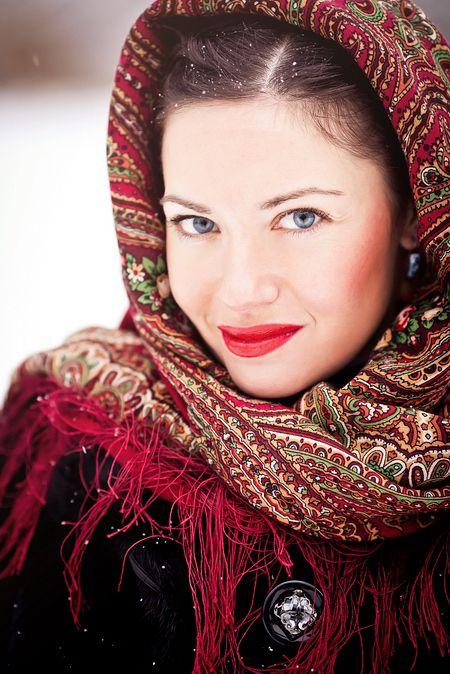 beautiful russian close-up