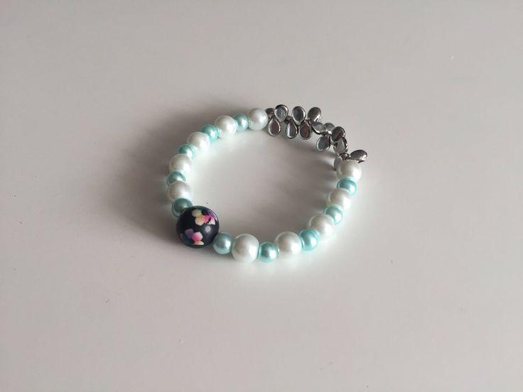 Excited to share the latest addition to my #etsy shop: Bracelet 1 http://etsy.me/2CqLedw #jewelry #bracelet #blue #white #no #women #womanbracelet #bluebracelet #handmadebracelet