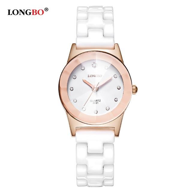 c7cf08826e6 LONGBO Ceramic Water Resistant Watch