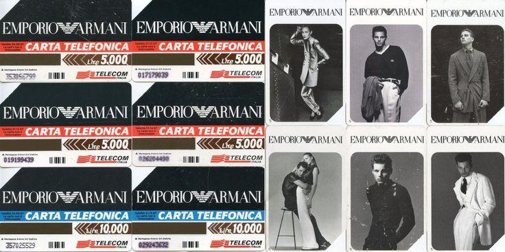 Lotto sei carte telefoniche Telecom Italia - Emporio Armani - usate