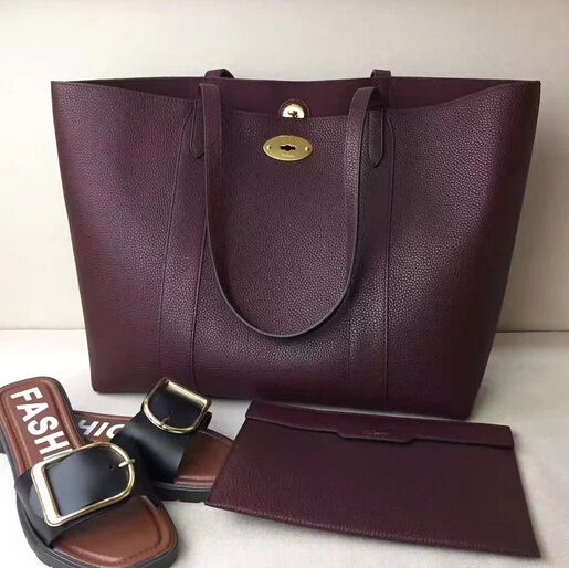 8f23e65faa3 Summer 2017 Mulberry Bayswater Tote Burgundy Small Classic Grain ...