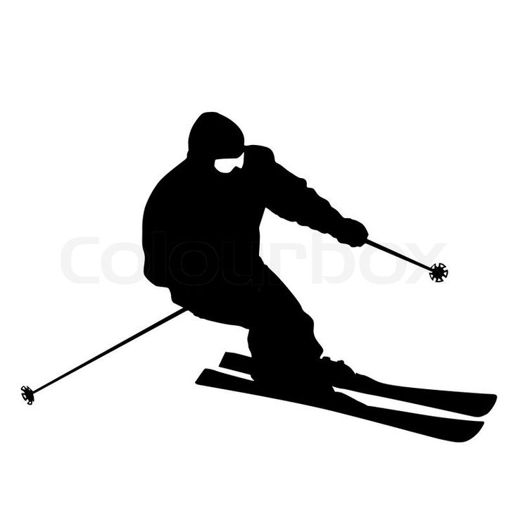 silhouettes of skiiers - Google Search