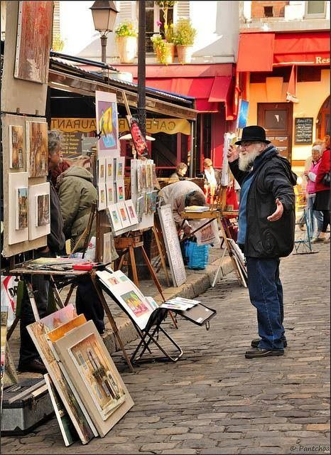 Place du Tertre, Paris - a large painters' open-sky workshop..
