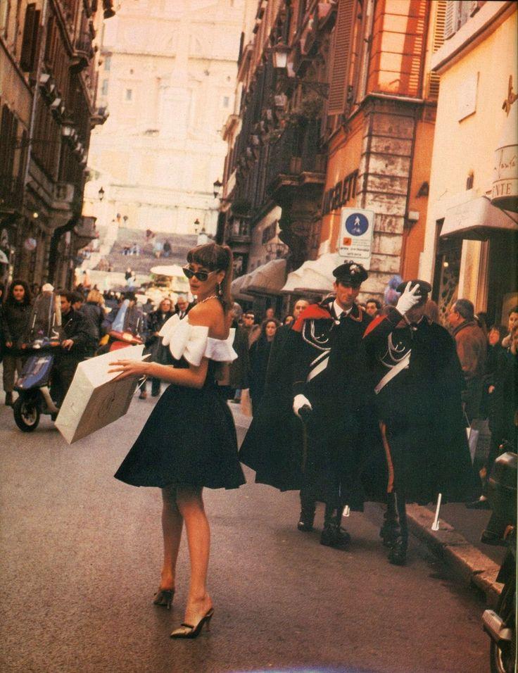 Carla Bruni by Pamela Hanson Vogue Italia March 1992