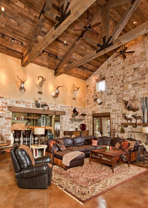 hill country house I love the ceiling! Definitely want that look in my house.