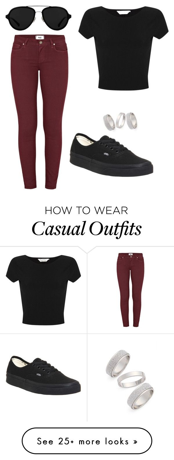 """""""Casual"""" by luciajane on Polyvore featuring Paige Denim, Miss Selfridge, 3.1 Phillip Lim, Topshop, Vans, women's clothing, women, female, woman and misses"""