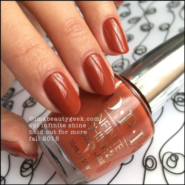 OPI Infinite Shine Fall 2015 - OPI Hold Out For More