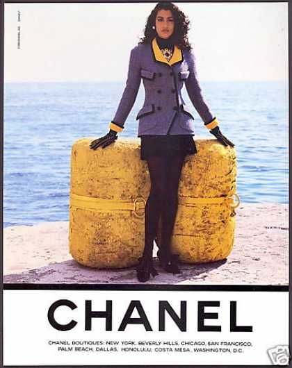 Ode to the 90s - Fashion Ads  CHANEL | image c/o: vintageadbrowser.com