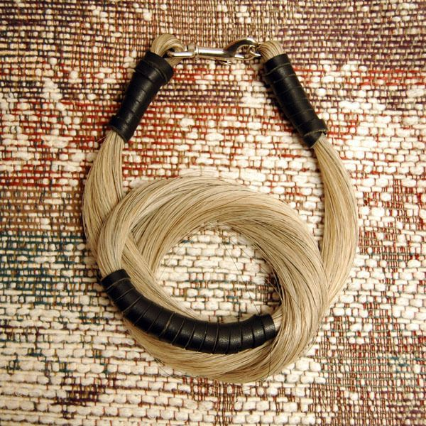 horse hair and leather