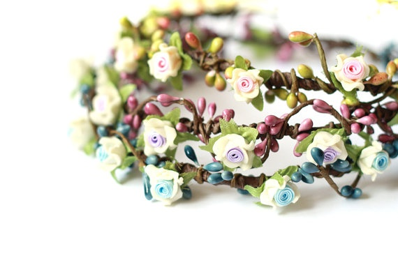 geraldine geraldson wreath  pastel pink OR blue OR by kisforkani, $35.00