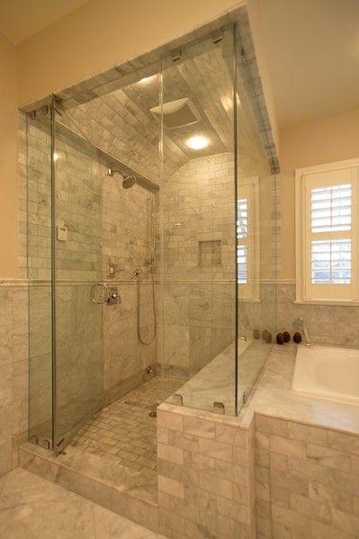 Tile Shower Floor Masterbath Room Master Bathroom 4 Shower Close Up Must