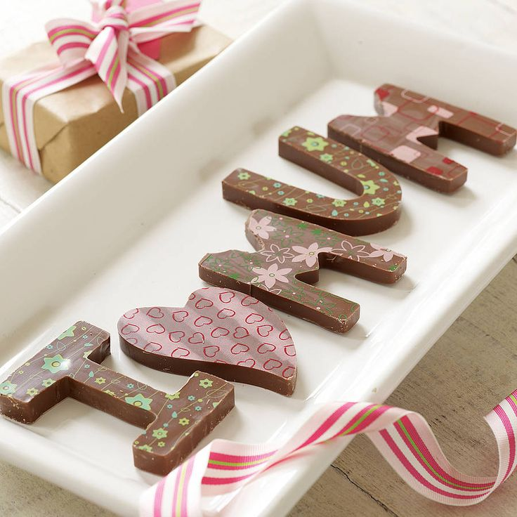 personalised chocolate names/messages by choklet   notonthehighstreet.com