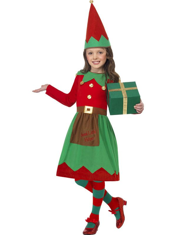 Check out Santa's Little Helper Elf Girls' Costume | Christmas Costumes & Accessories from Wholesale Halloween Costumes