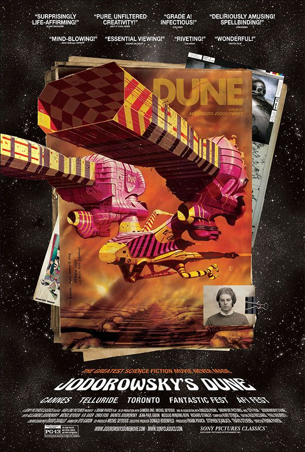 Jodorowsky's Dune (2013) The story of cult film director Alejandro Jodorowsky's ambitious but ultimately doomed film adaptation of the seminal science fiction novel.