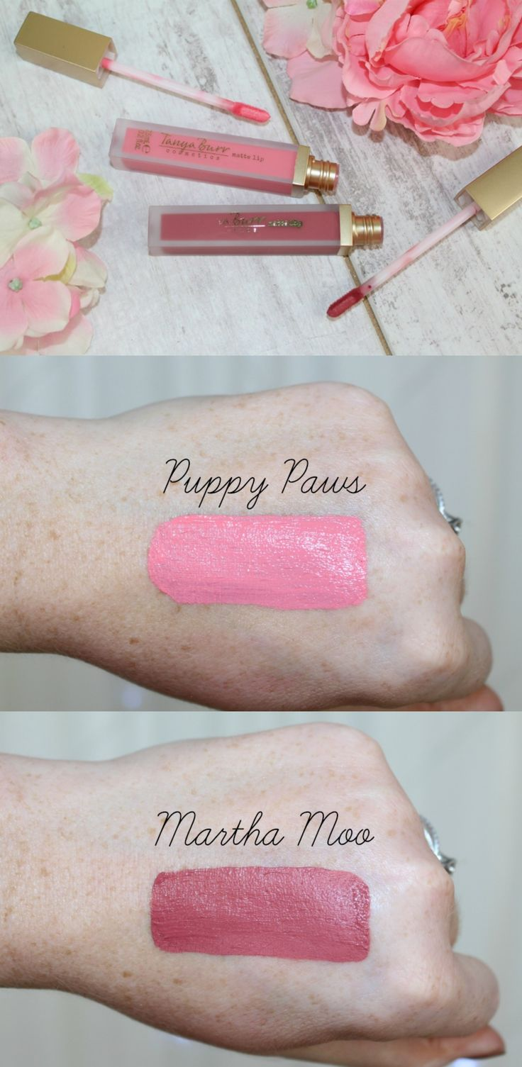 Tanya Burr Matte Lip in Puppy Paws and Martha Moo