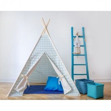 Lovely #kids #teepe in white and light blue. Perfect for baby girll's #bedroom #nursery. see more at: http://funique.co.uk #play #tents #baby #accessories