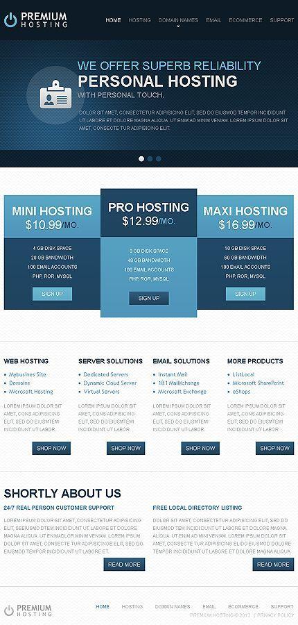 Hosting Website Responsive Cloud Dedicated Server Virtual Domain