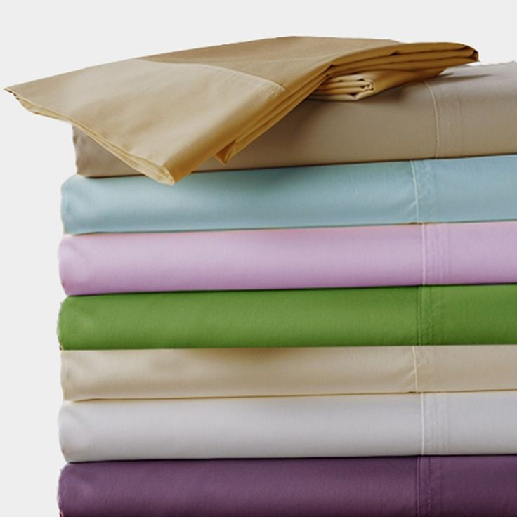 100%  Egyptian cotton 600 TC Fitted Flat  style bedding sheets 4 pcs set King Queen size brown purple blue white color customize #Affiliate