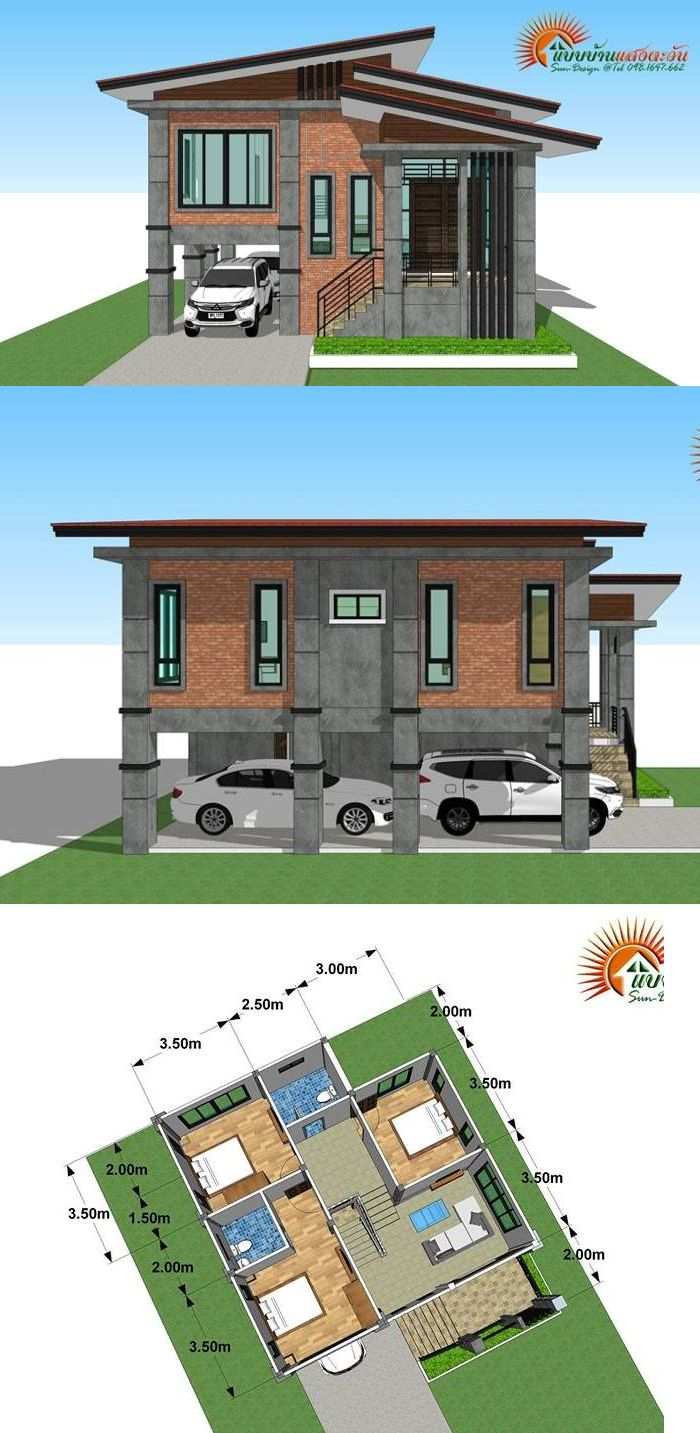 Modern Loft Style 3 Bedroom Multi Storey House Plan Ulric Home Modern Bungalow House One Storey House House Plans