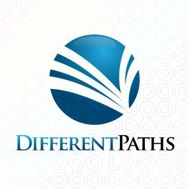 Exclusive Customizable Logo For Sale: Different Paths | StockLogos.com