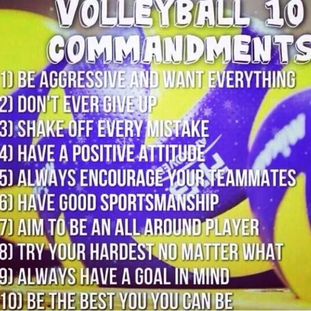 I love this. I'm gonna have to show my kids this! Especially number 7, you're a volleyball player, not a certain spot on the court.
