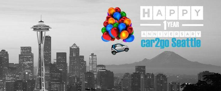 car2go Seattle 1 year anniversary