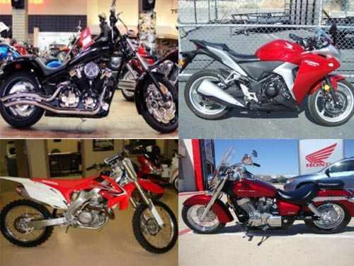 Find World's most popular #Honda_motorcycles by owners and dealers throughout the USA at http://www.motorcyclesjunction.com/used-motorcycles/honda/