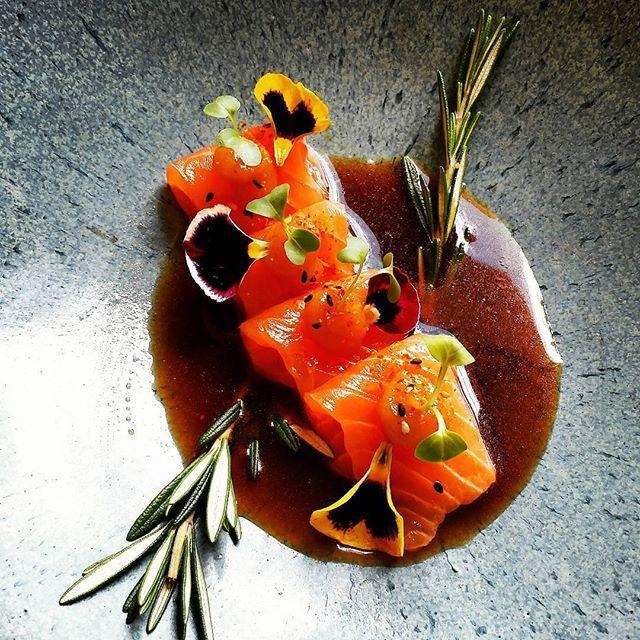 MIAMI SPICE! ! !  AUGUST 1 - SEPTEMBER 30  SALMON TIRADITO SPECIAL  tomyum essence   garlic ponzu by chefericou
