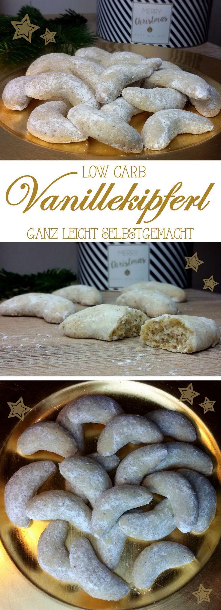 low carb feine Vanillekipferl …ganz leicht selbstgemacht Leckere Vanillekipferl gehören zur Adventszeit und zu Weihnachten einfach auf den Plätzchenteller. Diese hier haben nur wenig Kohlenhydrate und dürfen uns die Weihnachtszeit versüßen. Zutaten für ca. 26 Stück 100 g * Mandelmehl 60 g gemahlene Mandeln 1/2 TL Backpulver 1 TL * Sonnentor Vanillepulver 1 Prise Salz 50 g * Xylit (fein) + 1 EL zum Bestäuben 100 g Butter 2 Eigelb #abnehmen #low carb #lowcarb #LCHF #Plätzchen #Weihnachten…