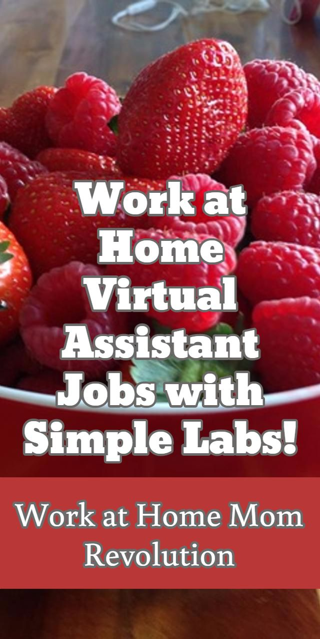 Work at Home  Virtual Assistant Jobs with Simple Labs! / Work at Home Mom Revolution