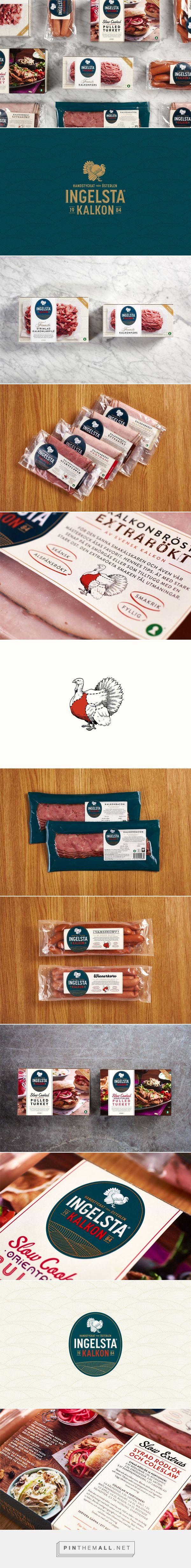 Ingelsta Kalkon meat packaging design by Amore Brand Identity Studios (Sweden) - http://www.packagingoftheworld.com/2016/07/ingelsta-kalkon.html