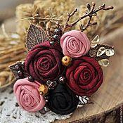 """Украшения ручной работы. Ярмарка Мастеров - ручная работа Брошь """"Манящий аромат роз"""". Handmade."""