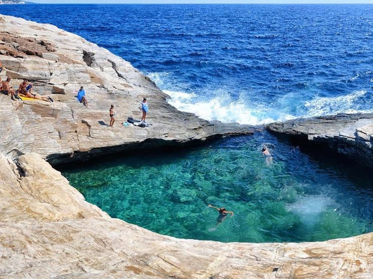 For an unusual dip, visit the warm, natural pool of Giola at the southernmost tip of the island. It's a 10-minute hike from the road, but well worth a stop if circumnavigating Thassos while exploring its 33 beaches (including nearby Astris and Psili Ammos).