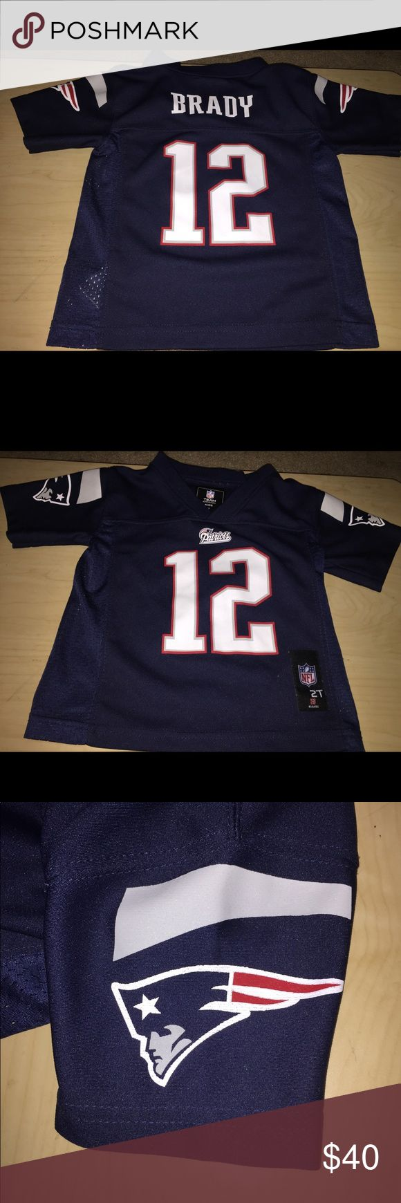 kids New England Patriots Tom Brady jersey 2t kids New England Patriots Tom Brady jersey size 2t. Good condition. Smoke free home nfl Shirts & Tops